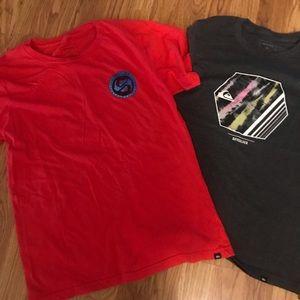Quicksilver boys shirts